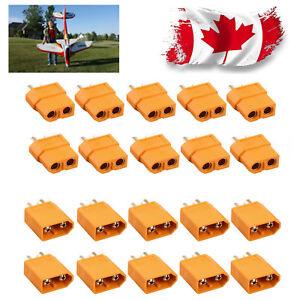 10-Pairs-XT60-Male-amp-Female-Bullet-Connectors-Plugs-for-RC-Lipo-Battery-Plane-CA