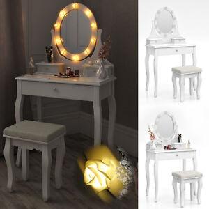tavolo per il trucco + sgabello specchio camera da letto vanità ...
