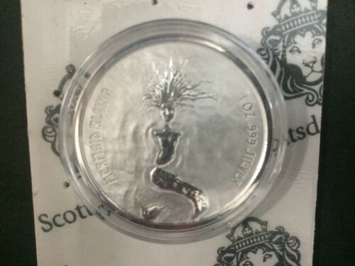 2018 Fiji $1 Mermaid Rising  1oz .999 Silver Bullion Coin BU