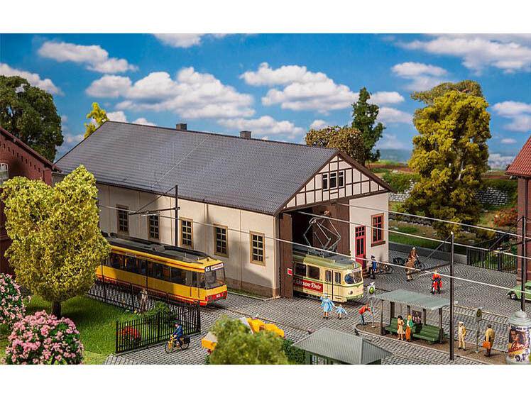 Faller 120289 H0 Straßenbahndepot Naumburg  | Feine Verarbeitung