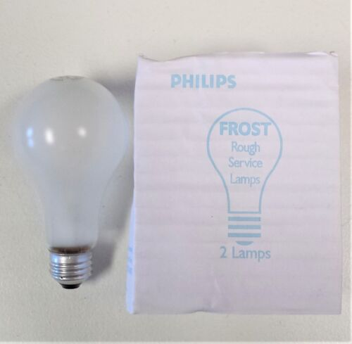 100W Silicone Coated Philips 100A//RS//TF 120-130V Rough Service Lamps BOX OF 8