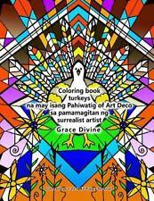 Coloring Book Turkeys Na May Isang Pahiwatig of Art Deco Sa Pamamagitan Ng...