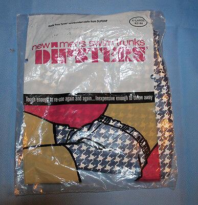 Dipsters Men's Swim Trunks Reusable Disposable XLarge 42-44 1 Pair New Patients