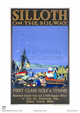 SILLOTH SOLWAY CUMBRIA GOLF RETRO VINTAGE TRAVEL RAILWAY POSTER ADVERTISING