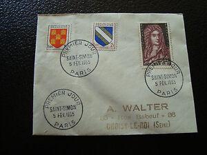 FRANCE-enveloppe-1er-jour-5-2-1955-saint-simon-cy12-french
