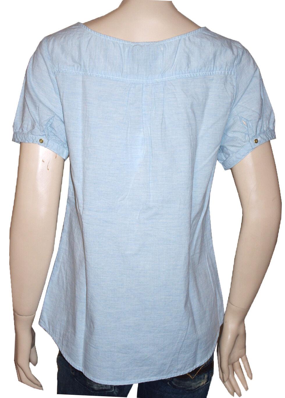 MAISON SCOTCH chemise tunique blu pale Donna Donna Donna  b3d5c4