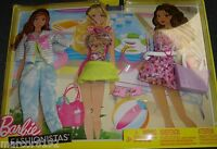 Barbie Doll Fashionistas Clothing Beach Pack 3 Fashions Outfits