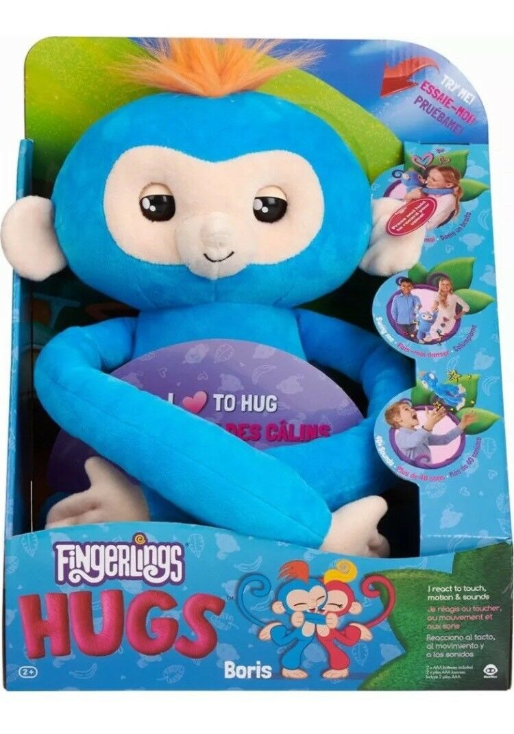 WowWee Fingerlings Hugs Baby Monkey Boris Plush