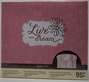 Recollections Live the Dream 12x12 Scrapbook Album Kit 95 pcs NWT