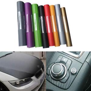 3D-Carbon-Fiber-Matte-Vinyl-Car-Wrap-Sheet-Roll-Film-Sticker-Decal-Decor-12-034-x50-034