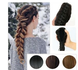 Straight-Drawstring-Fishtail-Plaited-Braid-Ponytail-Clip-In-Hair-Extension-FA3