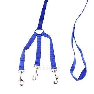 Laisse-3-chiens-NYLON-CLASSIC-Bleu