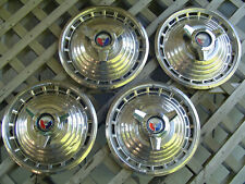 Vintage 1963 Ford Galaxie 500 Fairlane Hubcaps Wheel Covers Center Caps Antique