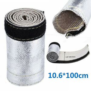 Metallic-Heat-Shield-Sleeve-Insulated-Wire-Hose-Cover-Wrap-Loom-Tube-3-3Ft-X-4-2