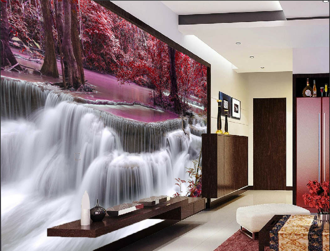 3D Maple River 4119 Wallpaper Murals Wall Print Wallpaper Mural AJ WALL UK Carly