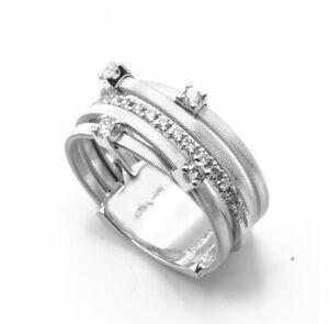 c141d1d41 Marco Bicego Goa 18K White Gold and Diamonds Ring AG270-B2   eBay