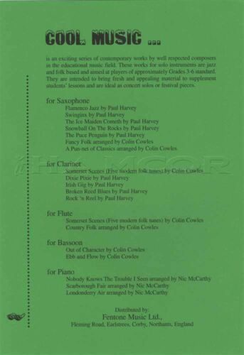 Ebb and Flow Three Fun Pieces for Bassoon Classical Sheet Music by Colin Cowles