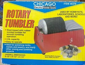 Chicago Electric Power Tools Rotary Tumbler 46376 For