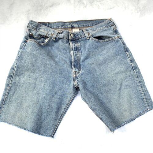 Vintage 90s LEVI'S 501 distressed Cut Off Shorts … - image 1