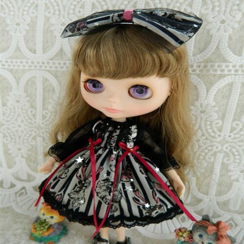 """PF Suitable For 12/"""" Neo Blythe Doll Takara Doll Fashion Black Lace Skirt Dress"""