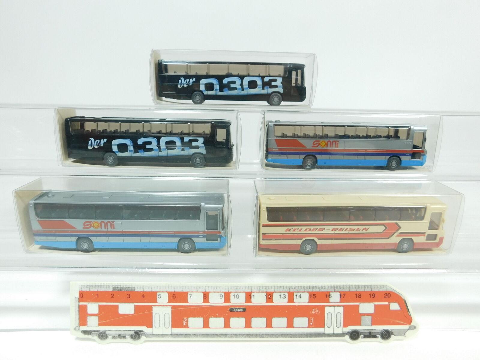 BD294-0,5  5x Wiking H0 1 87 Bus Mercedes MB RHD O 303  712 1  712, NEUWOVP  | Starke Hitze- und Abnutzungsbeständigkeit