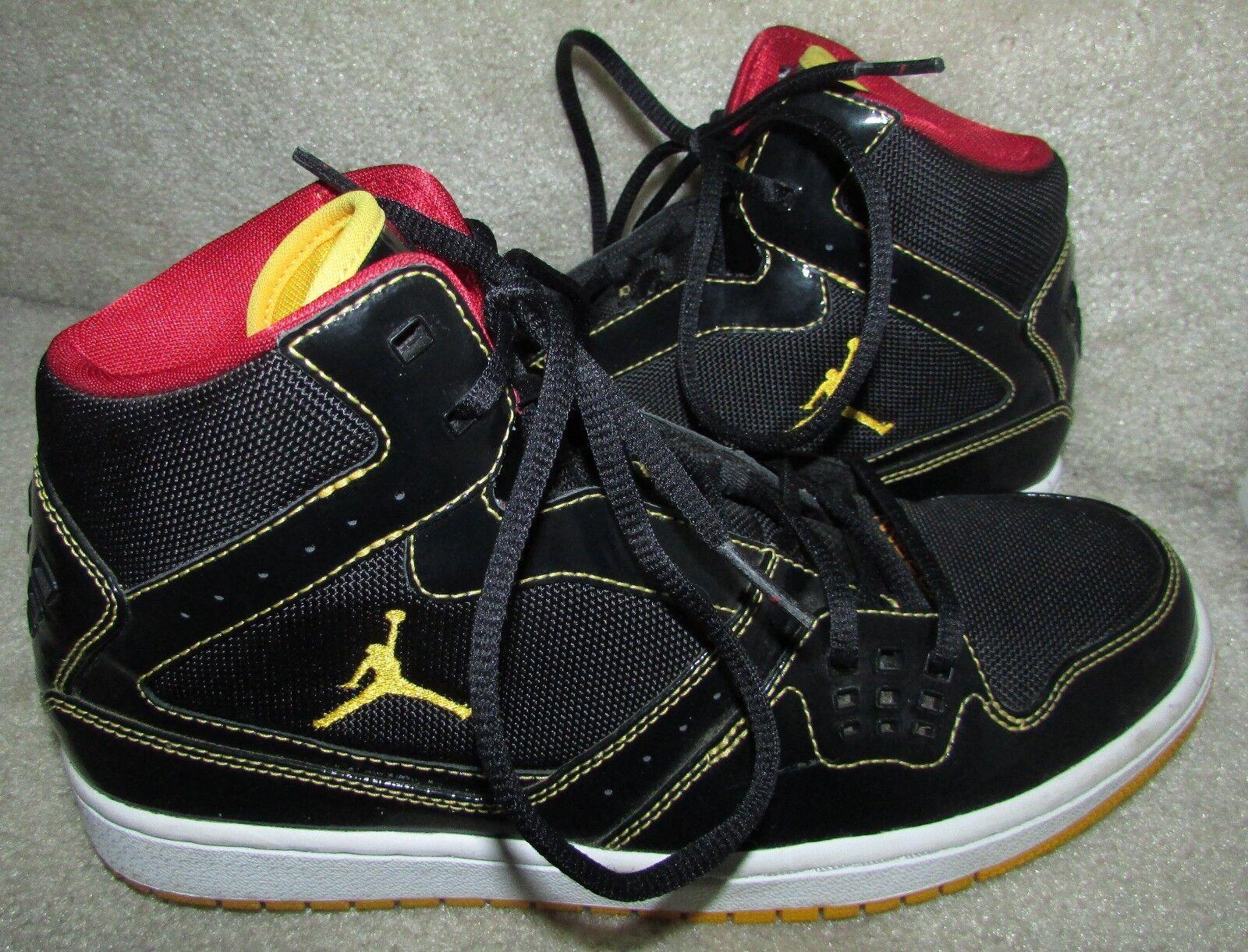 Nike Jordan 1 Flight Mid Samples Basketball shoes Size 9 Black gold Red White EU
