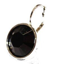 Swarovski Elements Jet Black Bella Earrings Silver Plated Dangle Earrings