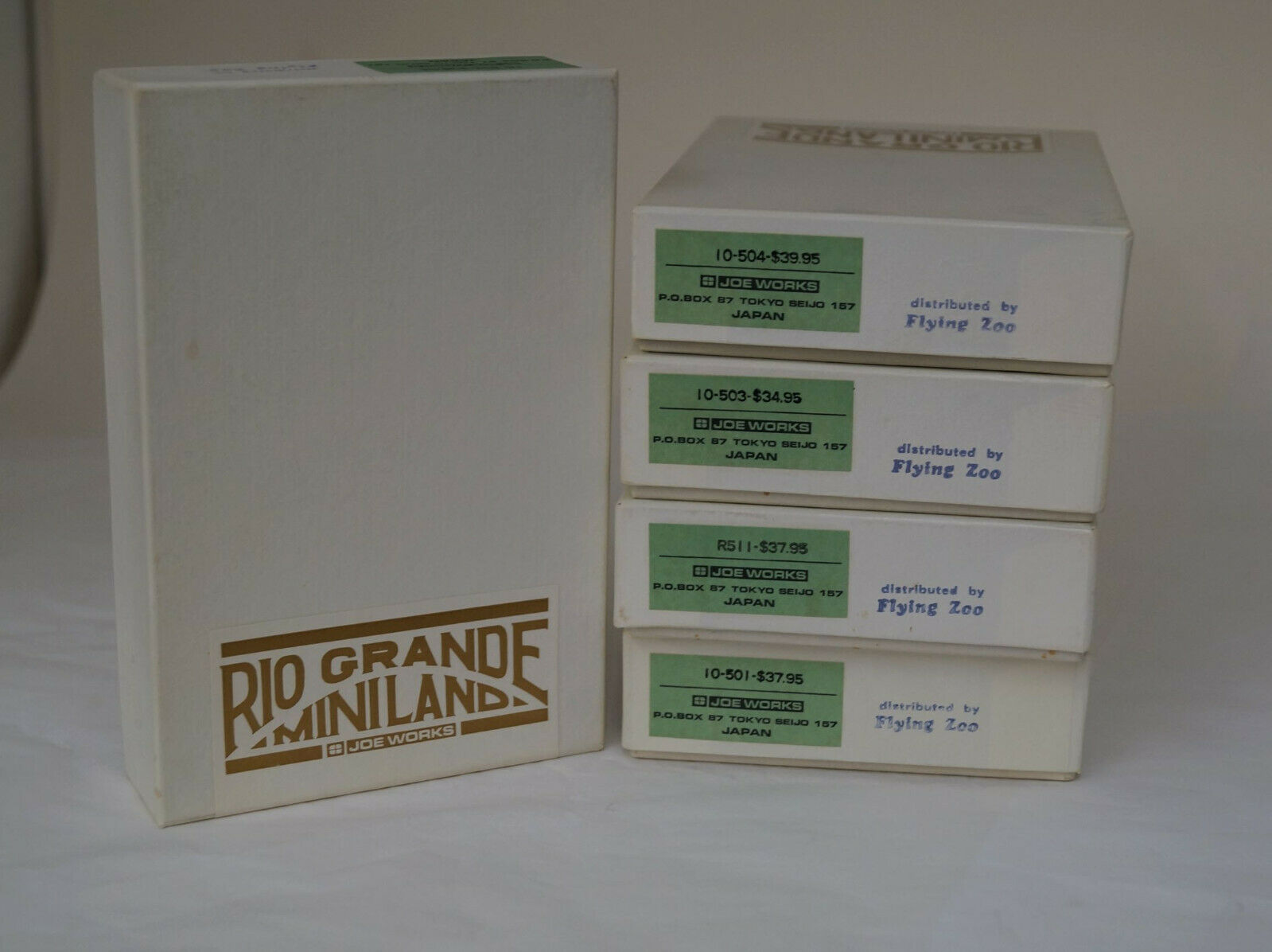 Hon3 Rio Grande Miniland, Joe Works 5 Coche Set, Latón