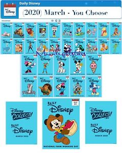 Topps Disney Collect - (2020) DAILY DISNEY MARCH - YOU CHOOSE!!! *Digital
