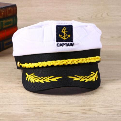 Captain Sailor Hat Navy Fancy Dress Adult Yacht Costume Marine Sea Cap Fishing