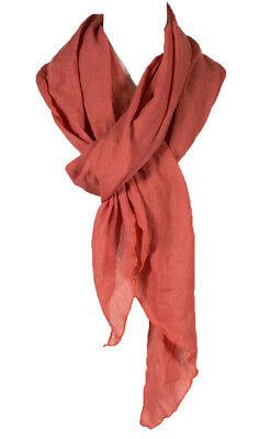 all season scarf Electric Fushia color Plain Color cotton wrinkle Linen scarf