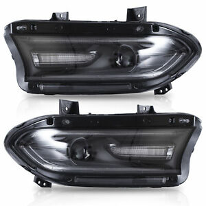 Custom-Dual-Beam-Projector-DRL-Bar-Sequential-LED-Headlights-for-15-20-Charger
