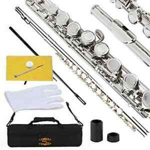 Glory Closed Hole C Flute With Case, Tuning Rod and Cloth,Joint Grease and Glove