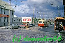Original US Kodachrome Slide #C799R, Toronto, Canada, Street Cars
