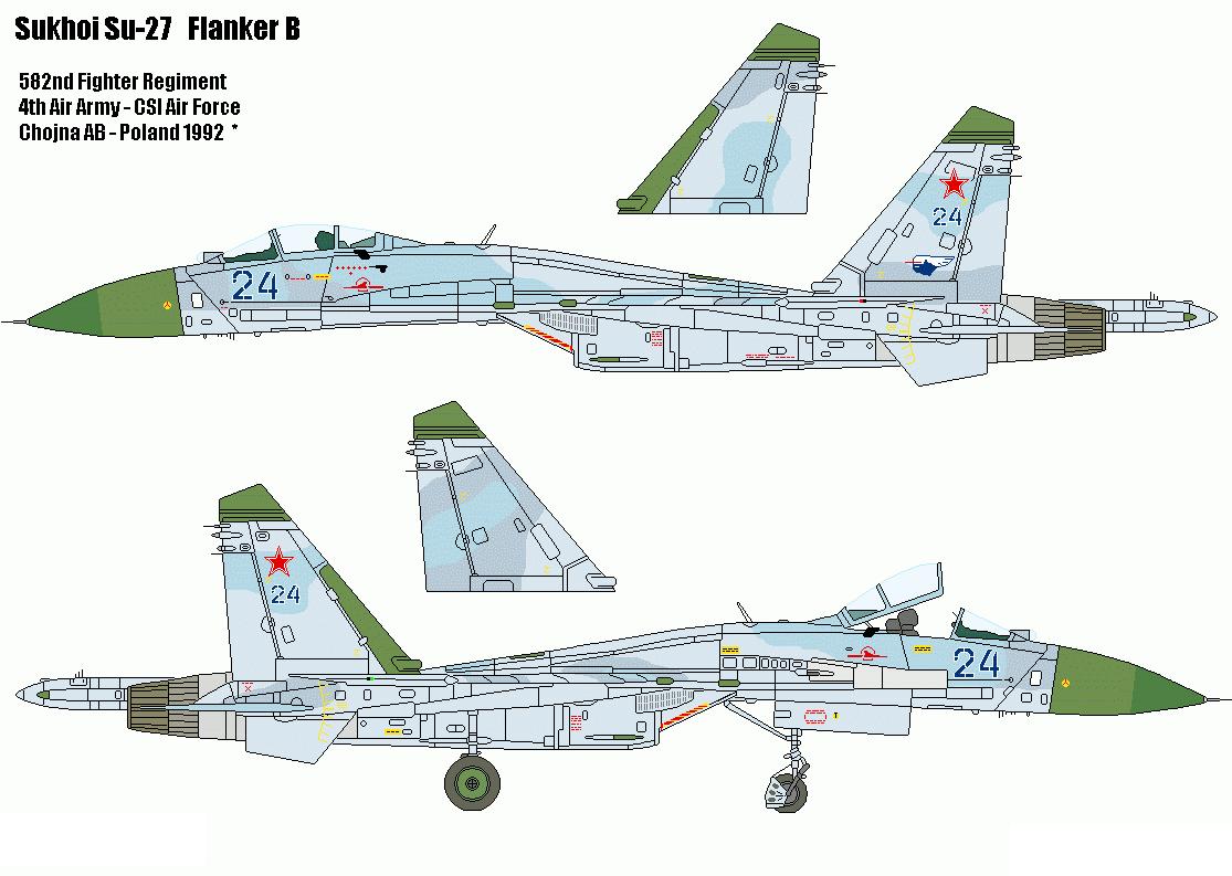 JC Wings JCW72SU27005 1 72 SU-27  Flanker Russian Air Force 582ND IAP POLOGNE 1992  articles de nouveauté
