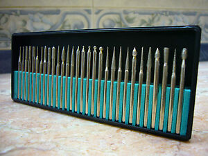 30-pieces-THK-Diamond-coated-rotary-pointed-head-burrs-burs-drill-bits-TYPE-2