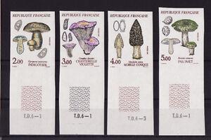 timbre-France-non-dentelee-serie-4-champignons-1987-num-2488-2491-bdf