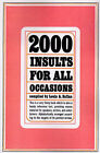 Two Thousand Insults for All Occasions by Louis A. Safian (Paperback, 1976)
