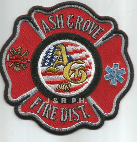"Ash Grove Fire District fire patch 4/"" x 4/"" size Missouri"