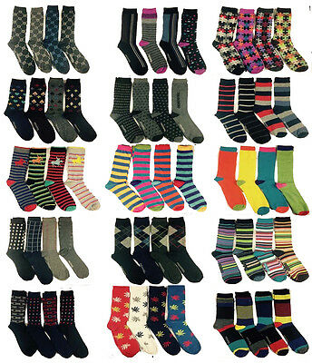Modest 12 Pairs Mens Designer Socks Cotton Rich Design Formal Sock Size Uk 6-11 Clothing, Shoes & Accessories Socks