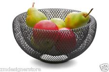 "Philippi Germany Airy 8"" Mesh Fruit Basket Bowl Contemporary Centerpiece Decor"