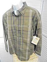 C.e. Schmidt Men's Long Sleeve Oxford Plaid Shirt Lg,, With Tags