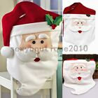 Home Santa Claus Smile Face Christmas Holiday Decorations Kitchen Chair Covers