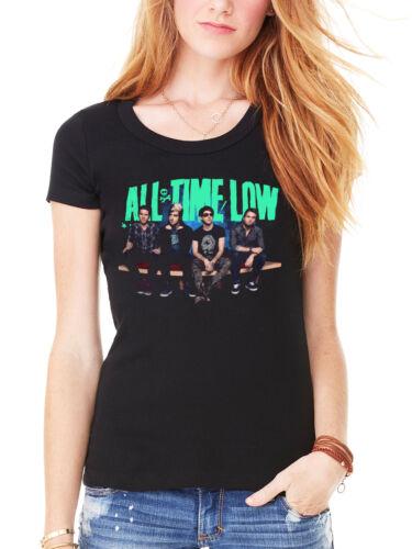 Oficial All Time Low Bench Press Para Mujer Amueblada Camiseta Pop Punk Rock