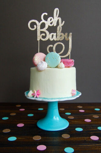 Oh Baby Cake Topper Baby Shower Pregnancy Gender Reveal Decoration Party Newborn