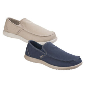 Details about Crocs Mens Santa Cruz Clean Cut Slip On Comfortable Loafer Shoes