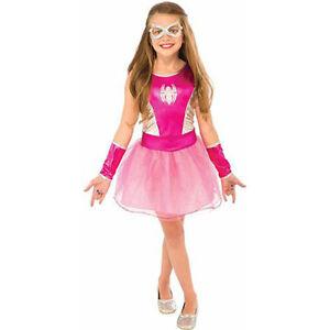30cf499f4934 Pink Spider-Girl Child Costume Sparkly Tutu Dress Up Halloween S L ...