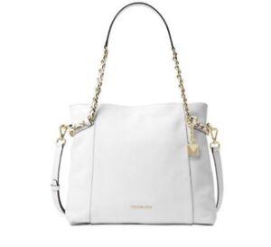 75f8448d328b Michael Michael Kors Remy Medium Shoulder Tote Bag in Optic White ...