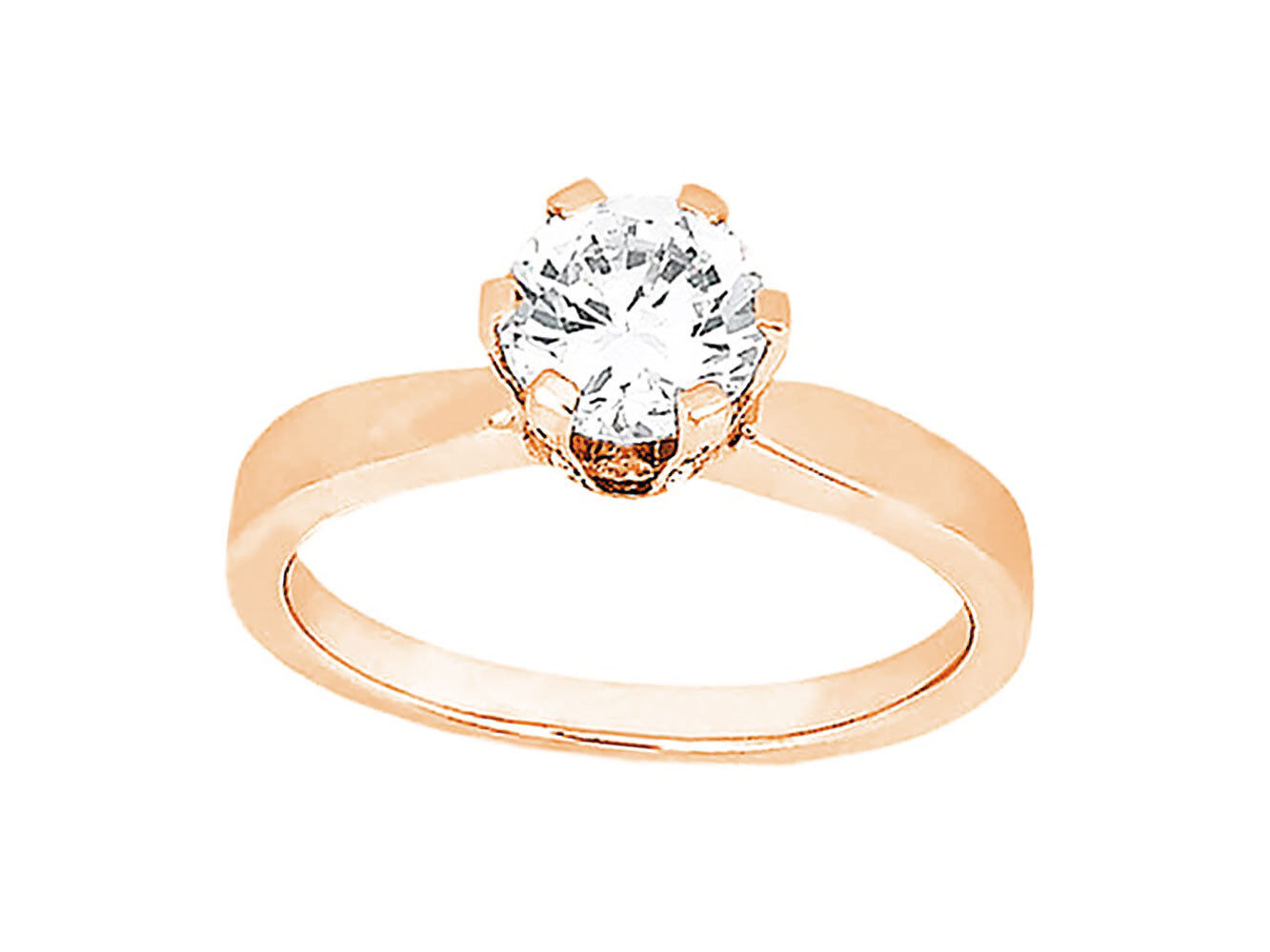 Natural 0.75Ct Round Diamond Accented Solitaire Engagement Ring 10k gold HI SI2