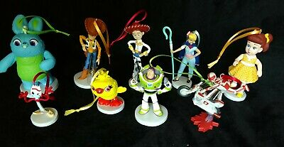 Set Of 4 Ornaments!! Disney Toy Story 4 Character Christmas Ornaments!